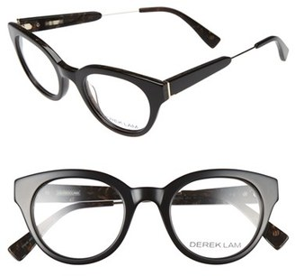 Women's Derek Lam 47Mm Optical Glasses - Black Brown $270 thestylecure.com