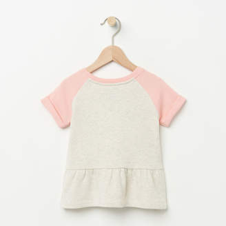 Roots Toddler Short Sleeve Peplum Crew