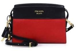 pradaPrada Mini Esplanade Leather Crossbody Bag