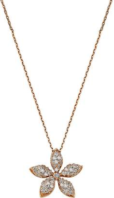 Bee Goddess Rose Gold and Diamond Apple Seed Necklace