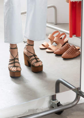bac95a89f And other stories Lace Up Wooden Platforms
