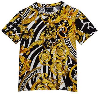 Versace Boy's Barocco Print Short-Sleeve T-Shirt, Size 8-14
