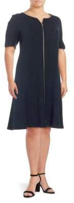 Lafayette 148 New York Plus Eden Wool Knee-Length Dress