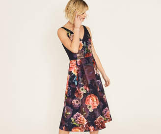 Oasis ROSE PLACEMENT MIDI DRESS