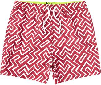 River Island Boys Red geo swim shorts