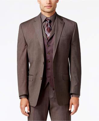 Sean John Men's Classic-Fit Brown Pindot Suit Jacket $275 thestylecure.com