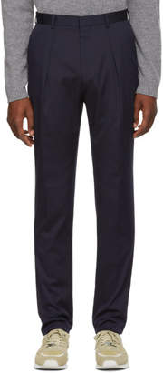 BOSS Navy Ole Stretch Trousers
