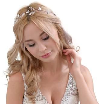 styling/ azaleas Crystal Wedding Hairband Hair Comb wedding headband Bridal Floral Wedding Headband Hair Vine Headpiece