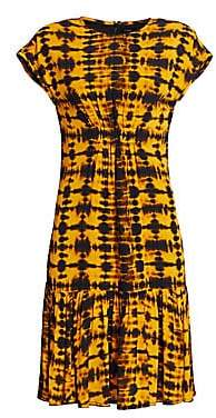 Proenza Schouler Women's Tie-Dye Cap Sleeve Dress - Size 0