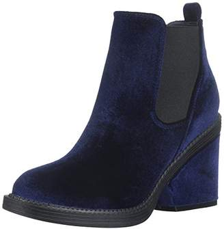 Qupid Women's Velvet Bootie Ankle Boot