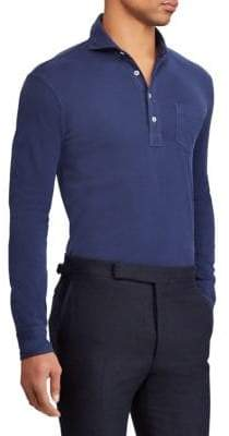 Ralph Lauren Purple Label Long Sleeve Polo Shirt