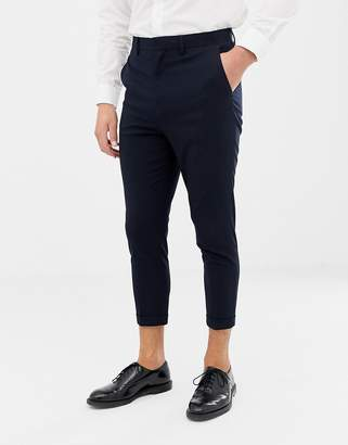 ONLY & SONS slim cropped suit pants