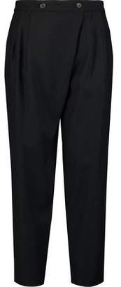Marc by Marc Jacobs Wrap-Effect Cropped Wool-Blend Tapered Pants