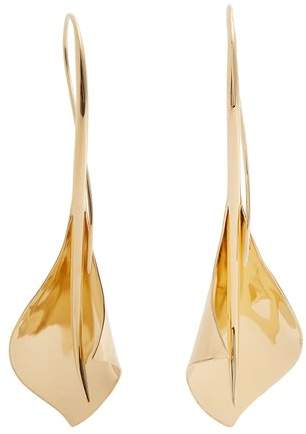 RYAN STORER Lily drop gold-plated earrings