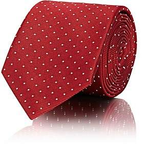 Lanvin Men's Polka Dot Silk Necktie - Red