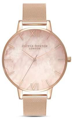 Olivia Burton Rose Quartz Dial Watch, 38mm