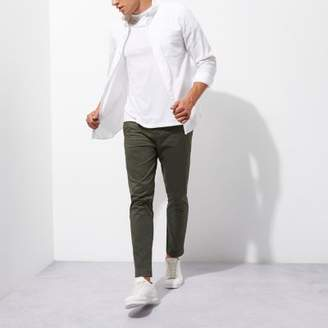 River Island Green slim fit ankle grazer chino pants