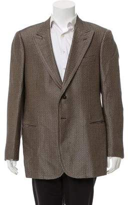 Giorgio Armani Peaked Lapel Patterned Blazer