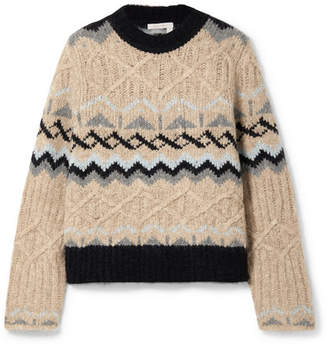 See by Chloe Fair Isle Knitted Sweater - Beige