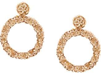 Sachin + Babi floral hoop sequinned earrings