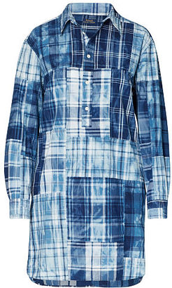 Polo Ralph Lauren Cotton Madras Shirtdress $245 thestylecure.com
