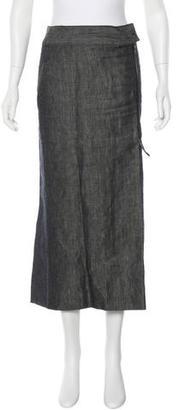 Yohji Yamamoto Linen Midi Skirt $95 thestylecure.com