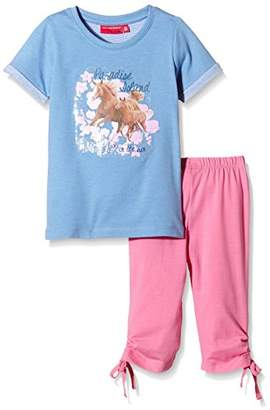 Salt&Pepper Salt and Pepper Girl's Crew Neck Short Sleeve Clothing Set - Multicoloured - 18-24 Months