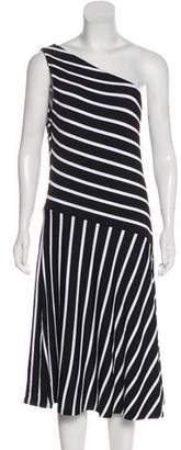 Lauren Ralph Lauren Asymmetrical Midi Dress w/ Tags
