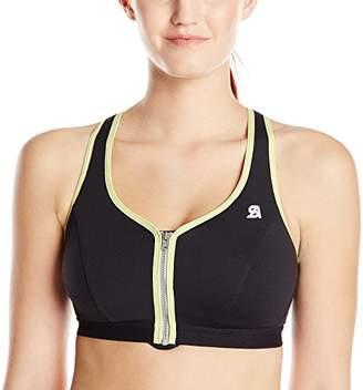 Shock Absorber Women's Zip Plunge Sports Bra -32B