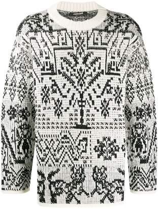 Roberto Cavalli intarsia-knit jumper