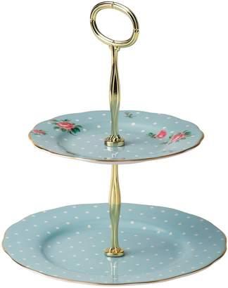 Royal Albert Polka Blue Vintage Cake Stand