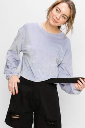 Double Zero Milky Lavender Velvet Sweatshirt