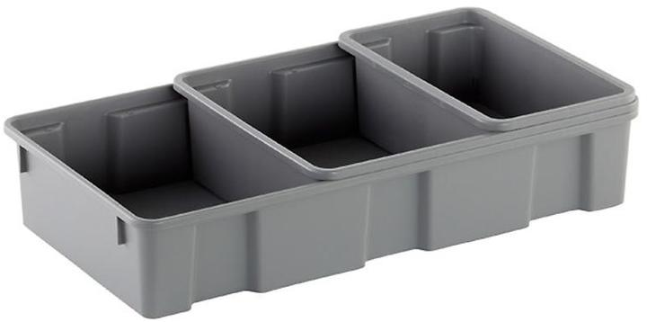 Container Store Medium Trunk Tray Grey