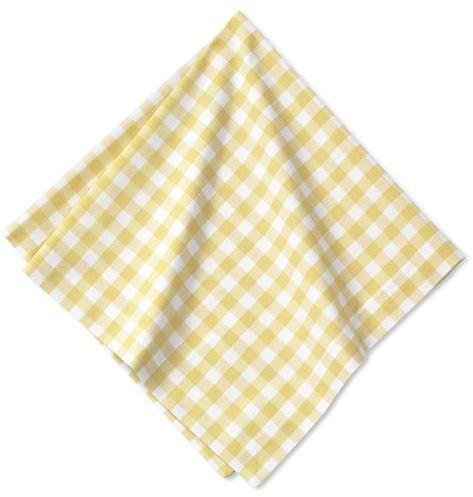 Gingham Boutis Napkins, Set of 4, Yellow