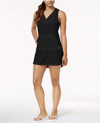 Nike Hooded Dress Cover-Up Women Swimsuit