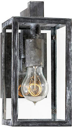 Visual Comfort & Co. Fresno Short Outdoor Sconce - Worn Zinc
