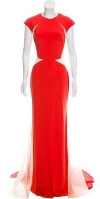 Jovani Mesh-Accented Evening Dress