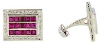 Platinum Ruby & Diamond Cufflinks