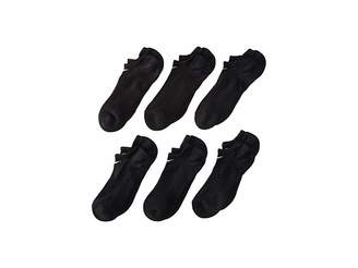 Nike Banded Cotton No Show 6-Pair Pack (Little Kid/Big Kid) (Black/