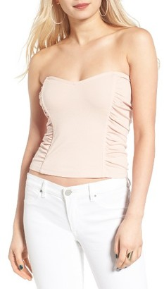 Women's Leith Ruched Strapless Top $49 thestylecure.com