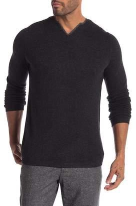 Autumn Cashmere Woven Trim Collar Cashmere Sweater