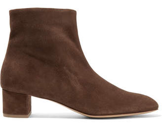 Mansur Gavriel Suede Ankle Boots - Chocolate