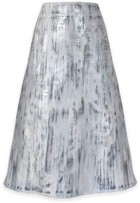 Riona Treacy - White Vegan Leather Skirt