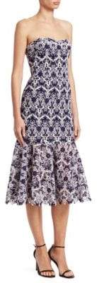 Jonathan Simkhai Bustier Lace Midi Dress