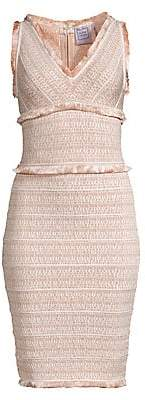 Herve Leger Women's Tweed Fringe Dress