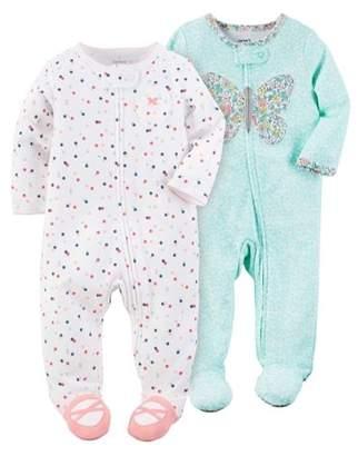 Carter's Newborn Baby Girl Sleep 'N Plays, 2-pack