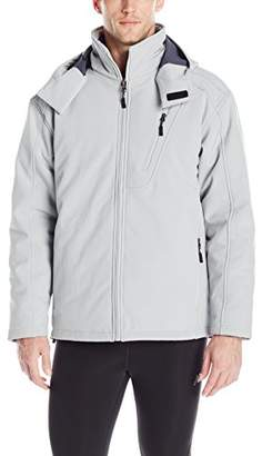 New Balance Men's Solid Soft Shell Systems Inside Puffer Quilted Jacket
