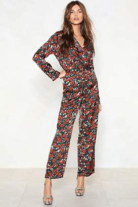Nasty Gal Super-Flower Floral Jumpsuit