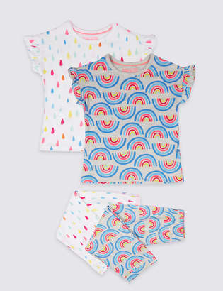 Marks and Spencer 2 Pack Printed Pyjamas (18 Months - 7 Years)