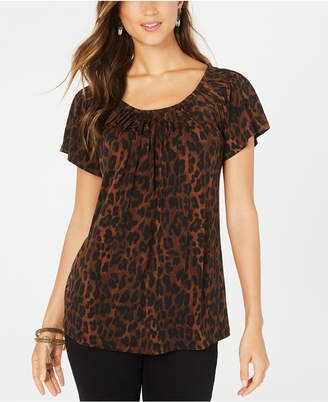 Style&Co. Style & Co Petite Animal-Print Top